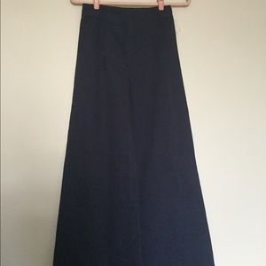 Wide leg navy high waisted pants
