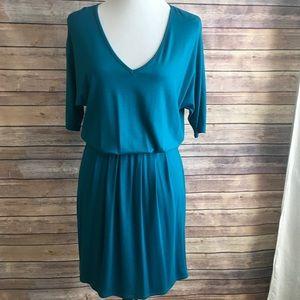 Three Dots V Neck Elastic Waist Dress