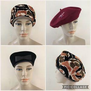 Bundle of 3 Vintage Hats Pillbox Beret Paris