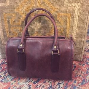 Vintage Purple Raw Leather Coach Bag