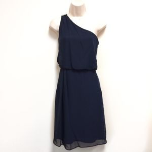 ADRIANNA PAPELL NWT Blue One Shoulder Dress