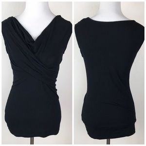 CAbi Black #948 Cowl Neck Top