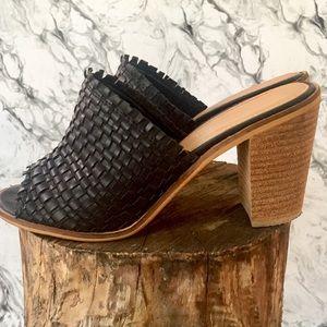 Black & Tan Platform Mules by Catherine Malandrino