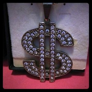 Other - Sterling silver Money sign 18- 22 inch necklace