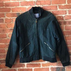 Vintage black suede bombers jacket M/l