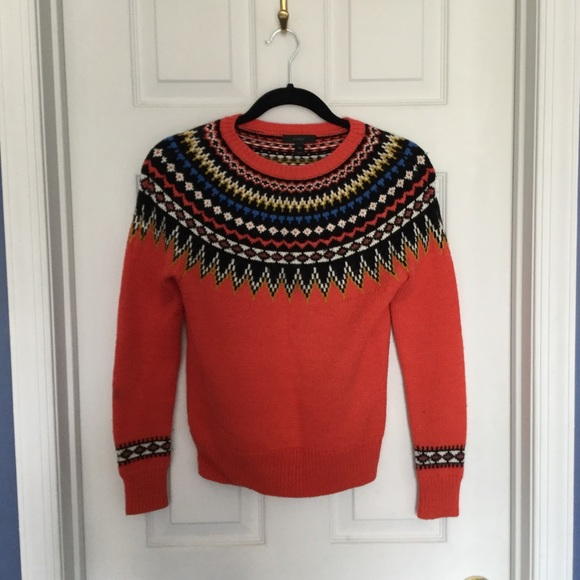 50% off J. Crew Sweaters - EUC J Crew alpine fair isle ski sweater ...