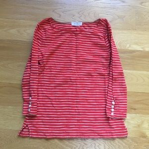 Forever 21 Women's Red and White striped tee