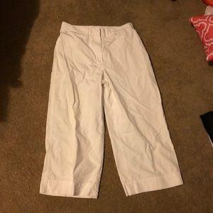 Lauren Capri White pants size 8