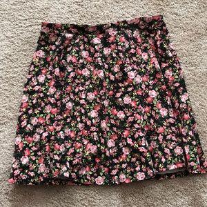 Floral Forever 21 Circle Skirt