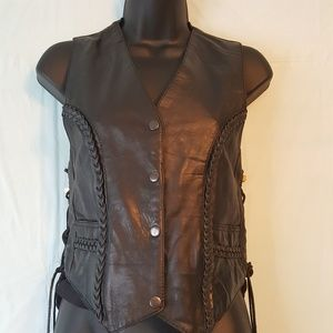 Black Leather Vest by Paragon Leather