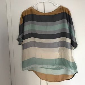 ZARA silk short sleeved top