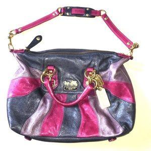 Vintage Coach Retro Tri color Tote Handbag