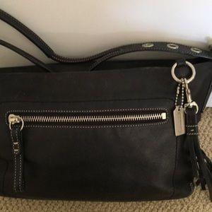 Coach bag, black leather
