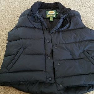 Black Cabelas men's vest size lg