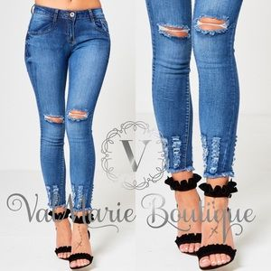 🔥FINAL PRICE🔥Distressed Ankle Skinny Jeans