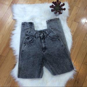 Vintage 80's Lee High Waisted Acid Wash Mom Jeans