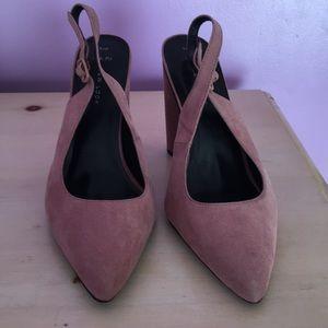 Close Toe Sling-Backs w/ Round Heel