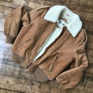 Bernimans shearling suede jacket