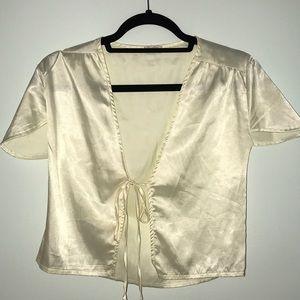 Brandy Melville silk tie top