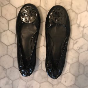 Tory Burch patent leather black flats