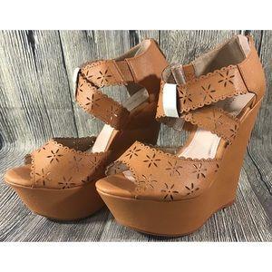 Bumper Platform Wedge Sandals Beverly23X Flowers