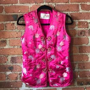 Vintage silk oriental vest