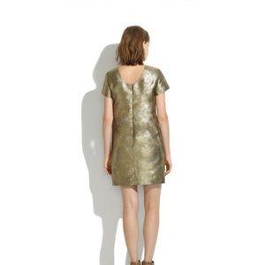 Madewell gold holiday sparkle dress sz10