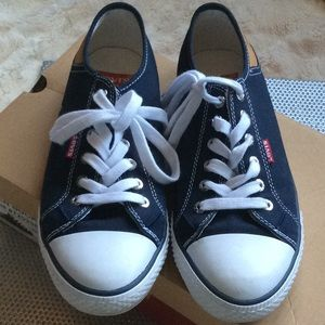Canvas Navy Sneakers