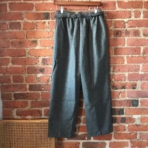 Vintage wool trousers with belt 27/28