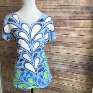 NWT Whimsy Ross Blue & Green Tee size XL