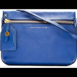 Marc by Marc Jacobs royal blue leather crossbody.