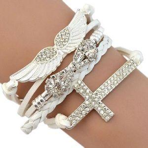 Jewelry - Angel Wings and Cross Bracelet