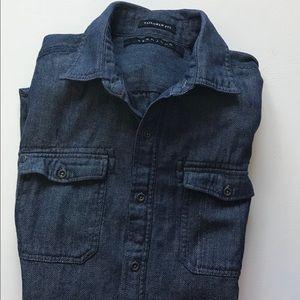 Sean John Tailored Fit Men's Denim Shirt Medium