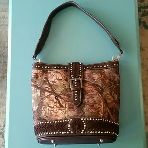 Montana West Camo Concealed Handgun Purse