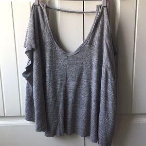 Free People gray short sleeve top
