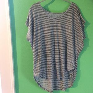 We The Free striped dolman sleeve loose fit tee
