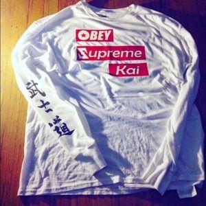 OBEY. SUPREME. KAI. Long sleeve shirt