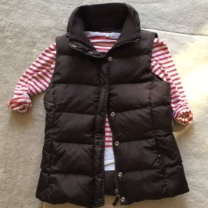 Jcrew dark brown down vest