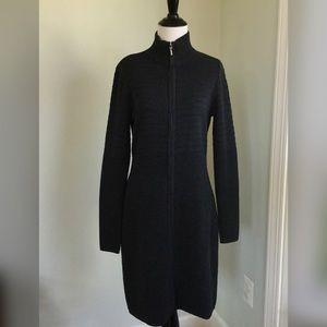 Calvin Klein Charcoal Long Sleeve Sweater Dress M