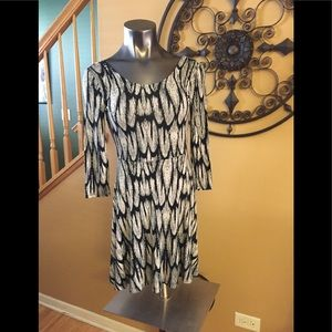 Express Abstract Print Dress