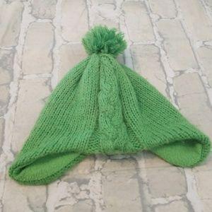 Green kids hat