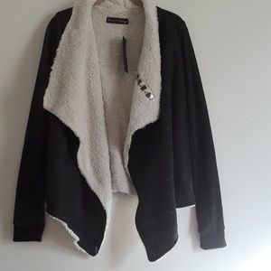 NWT Black and White sweater