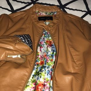 Light Brown Light weight leather jacket