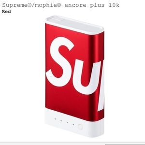 Other - Supreme x Mophie Encore 10k RED Battery