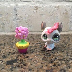 Littlest Pet Shop Rare Chinchilla Baby 1018 EUC