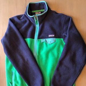 Women's Patagonia FullZip Fleece Size L Blue/Green