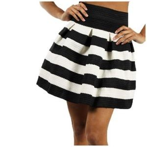 Honey Punch Striped Skirt