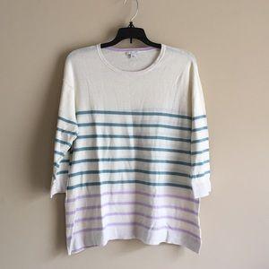 Beautiful J. Jill light sweater! Size medium