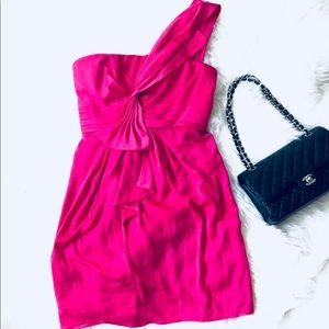 BCBG max Azria Pink Silk Dress Size 8