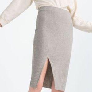 Zara ribbed skirt